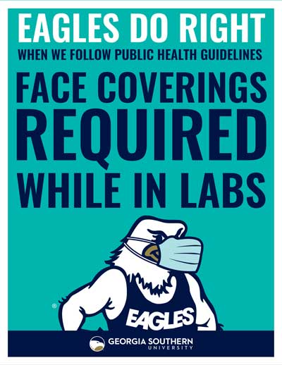 Face Coverings Required While in Labs