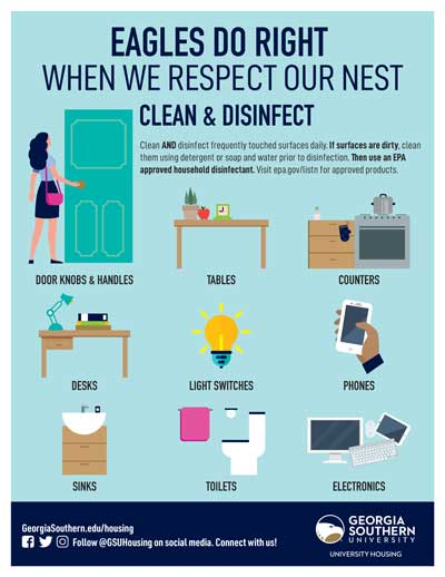 Eagles Do Right When We Respect Our Nest (Clean and Disinfect)