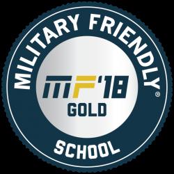 Military Friendly School 2018 Gold Award