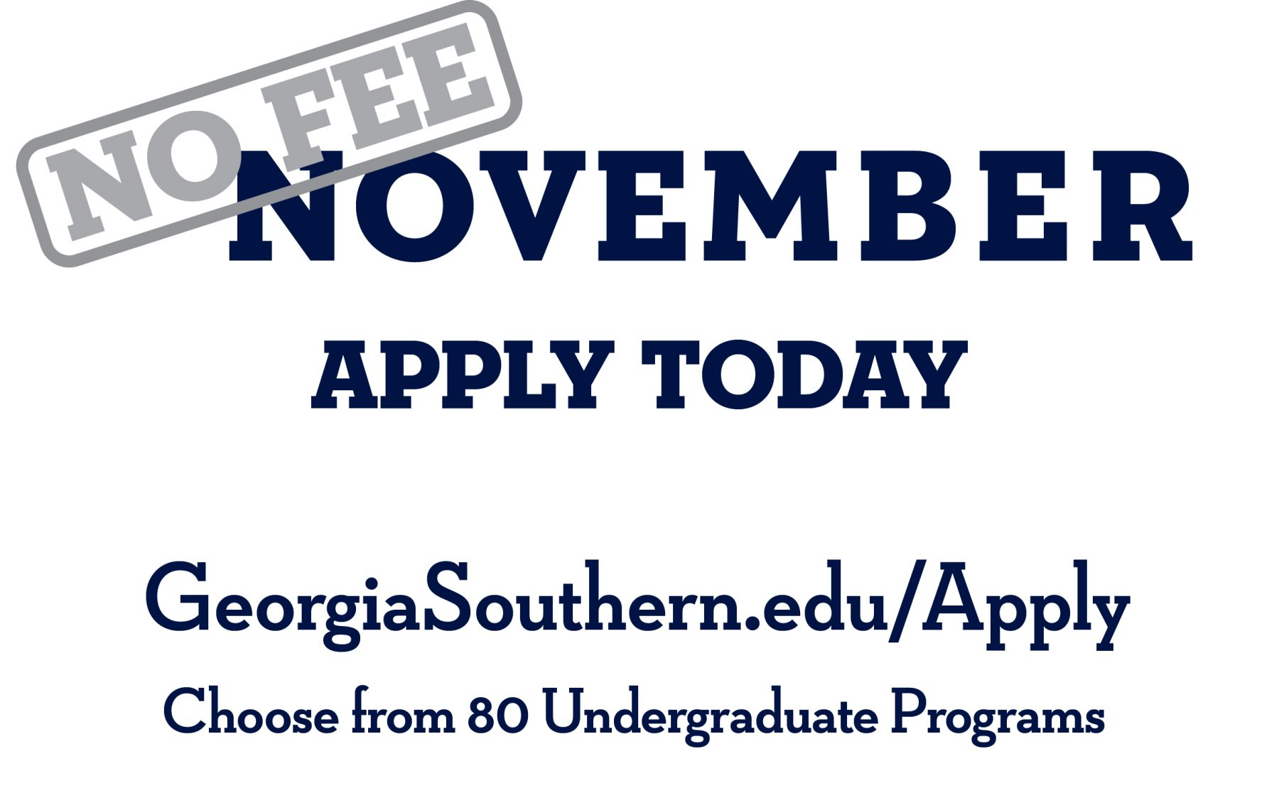 No-Fee November Apply
