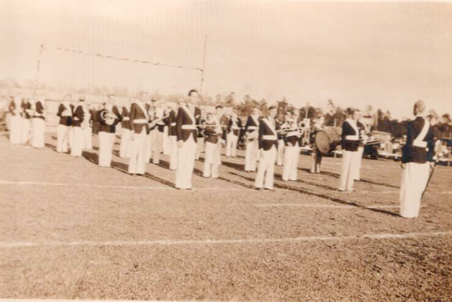 southern pride marching band at st.patrick's day parade