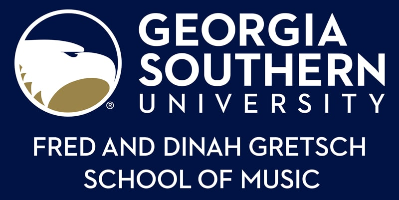georgia southern university fred and dinah gretsch school of music logo - go to website