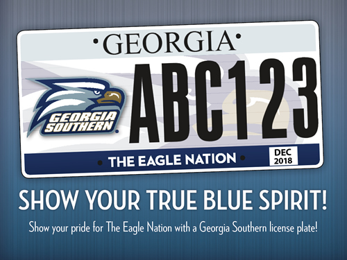 Show your true blue spirit with a Georgia Southern license plate