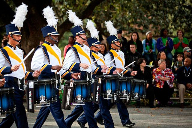homecoming parade band members