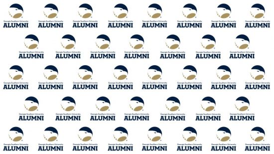 download a white zoom background of the alumni logo