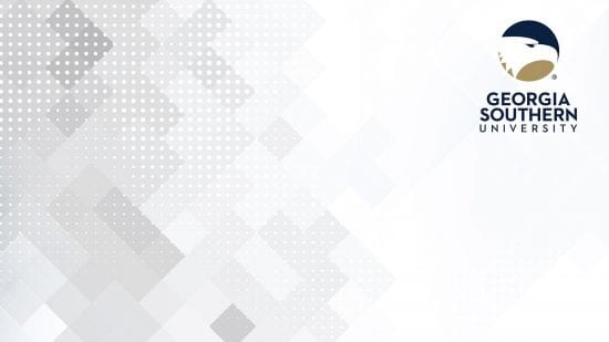 download a white geometric pattern with a georgia southern logo